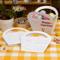 Easter Craft Colour In Baskets